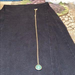 greenish blue stone gold necklace
